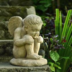 Volcanic Ash Gazing Angel Statue (Indonesia)