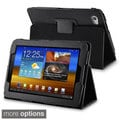 Black Synthetic Leather Case for Samsung Galaxy Tab 7.7-inch