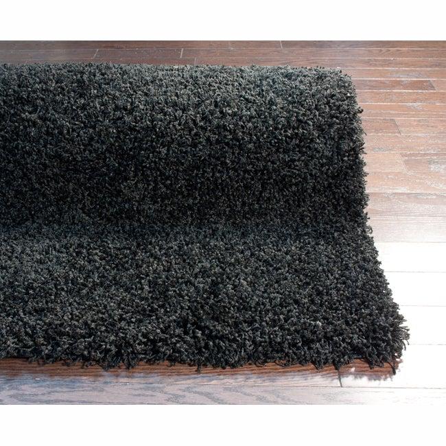 nuLOOM Ultra Black Shag Rug (8' x 10')