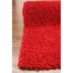 nuLOOM Ultra Red Shag Rug (8' x 10')