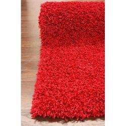 nuLOOM Ultra Red Shag Rug (5' x 8')