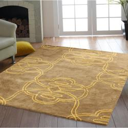 nuLOOM Handmade Modern Tribe Wool Rug (7'6 x 9'6)