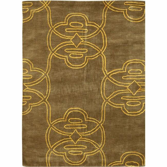 nuLOOM Handmade Modern Tribe Wool Rug (5' x 8')