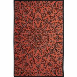nuLOOM Handmade Big Medallion Wool Rug (5' x 8')