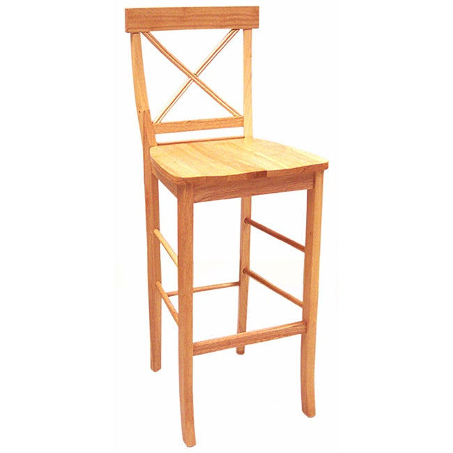 Simple Living Cross Back Natural 30-inch Stool