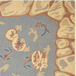 Key West Fish Pool Indoor Outdoor Rug (5'3 x 7'7)