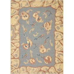 Safavieh Key West Fish Pool Indoor Outdoor Rug (5'3 x 7'7)