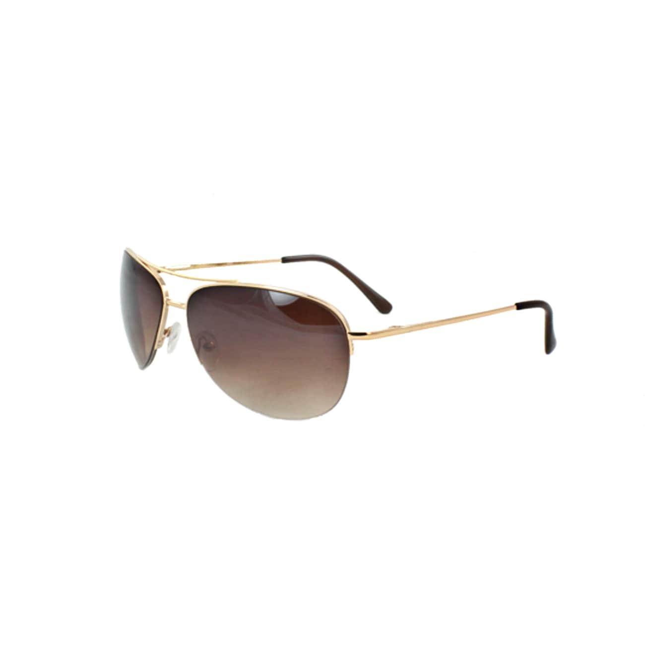 Unisex 669GDAM Gold/ Amber Aviator Sunglasses