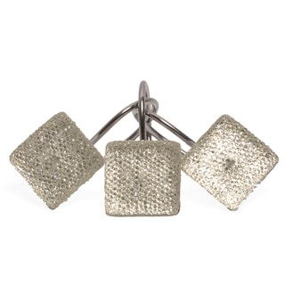 Crystal Diamonds Shower Curtain Hooks