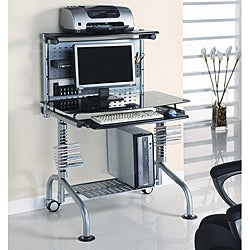 Innovex Clear Glass Computer Workstation