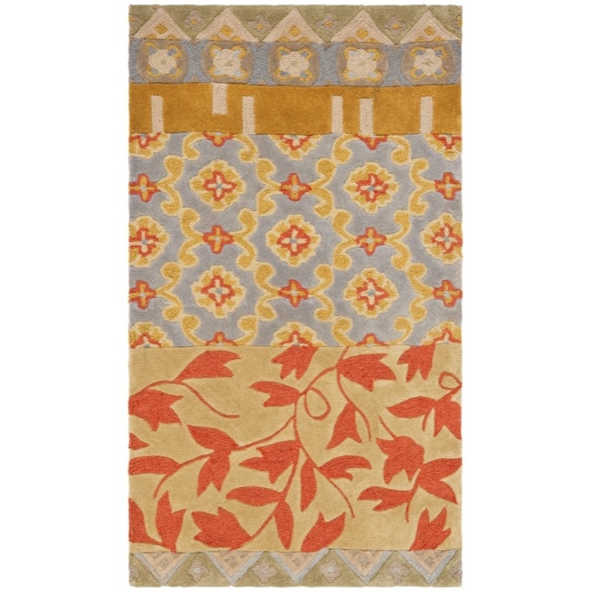 Safavieh Handmade Rodeo Drive Collage Multicolor N.Z. Wool Rug (2'6 x 4'6)