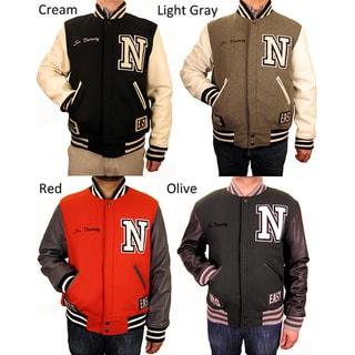 Hudson Outerwear Men's N.Y. Wool/ Leather Varsity Jacket