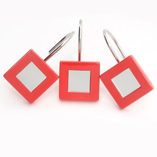 Waverly Mirror Garnet Shower Curtain Hooks