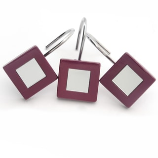 Waverly Mirror Plum Shower Curtain Hooks