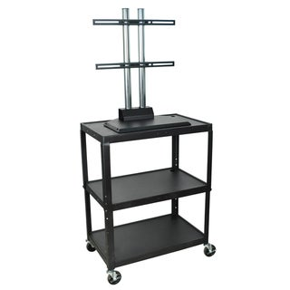Luxor Adjustable Large Steel A/V Cart with Flat Panel TV Mount