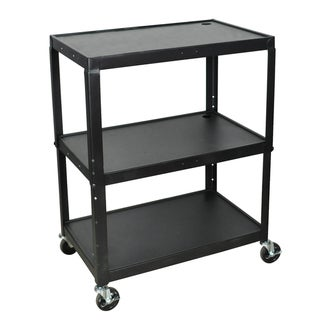 Luxor Adjustable Height Large Steel A/V Cart