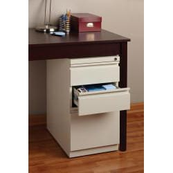 Hirsh 20-inch Three-drawered Deep-box Steel Mobile File Pedestal
