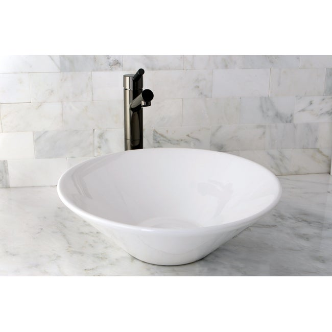 Bathroom Sink White : Vessel Vitreous China White Bathroom Sink - 14146738 - Overstock.com ...