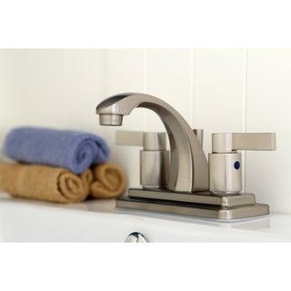 Nuvo Fusion Satin Nickel 4-inch Center Bathroom Faucet