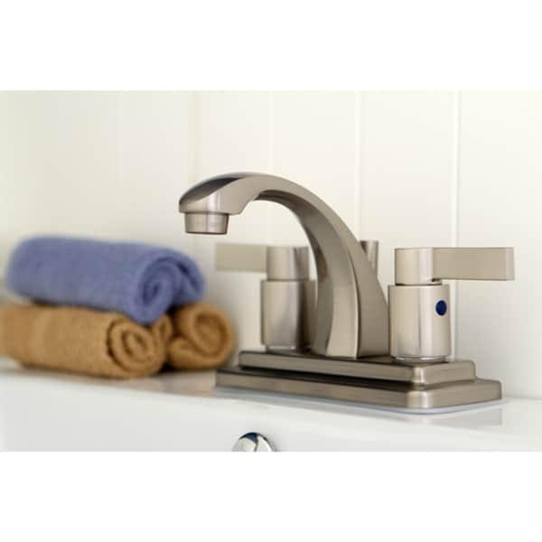 Nuvo Fusion Satin Nickel 4 Inch Center Bathroom Faucet 14146740 Overstock