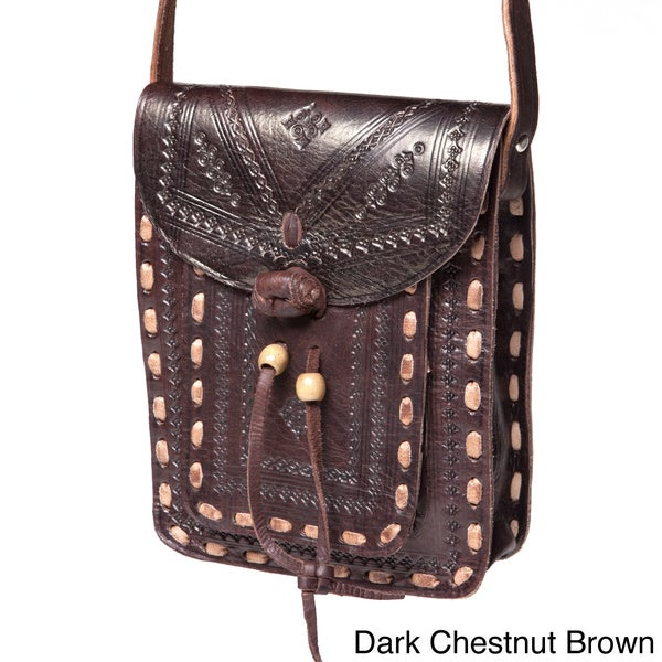 Crossbody Leather Messenger Bag (Morocco)