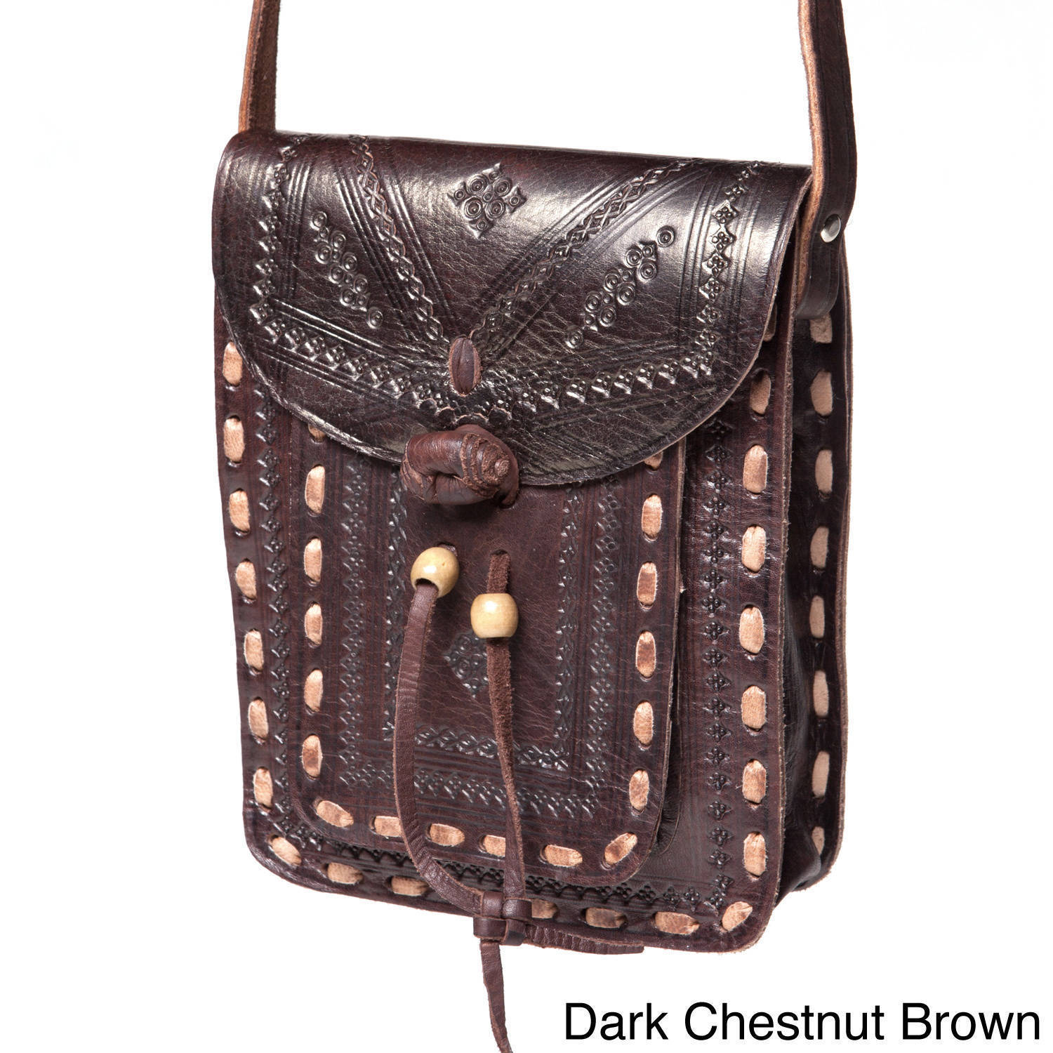 Overstock.com Crossbody Leather Messenger Bag (Morocco) at Sears.com