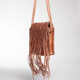 Fringed Leather Crossbody Bag (Morocco)