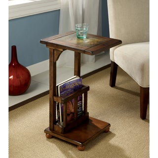 Furniture of America Slimming Sissy Magazine Rack End Table