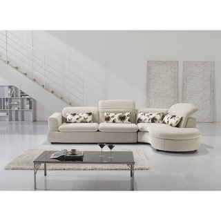 Furniture of America Selby Adjustable Backrests 2-piece Sectional Chaise Set