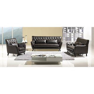 Furniture of America Halifax 3-piece Leatherette Sofa Loveseat and Chair Set