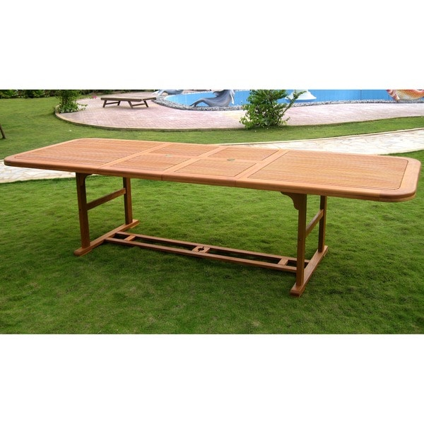 International Caravan Royal Tahiti Rectangular Butterfly Leaf Extension Table