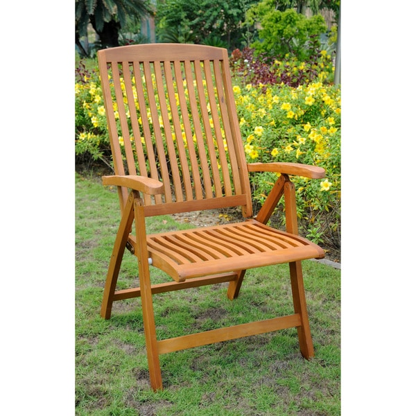 International Caravan Royal Tahiti 'Sarragossa' Contoured 5-Position Folding Arm Chair (Set of 2)