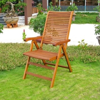 International Caravan Royal Tahiti 'Freeport' 5-Position Outdoor Folding Armchair (Set of 2)