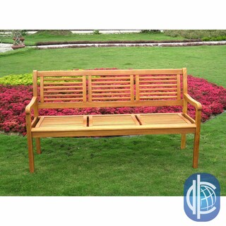 International Caravan Royal Tahiti 'Bar Harbor' 3-Seater Park Bench