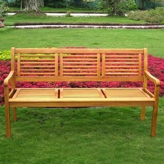 International Caravan Royal Tahiti 'Bar Harbor' 3-Seater Park Bench