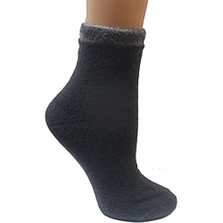 Women's Grey Shea Butter Double Layer Socks