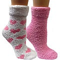 Women's Lavender-infused Fluffy Pink Chenille Socks (Pack of 2)