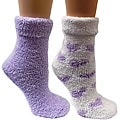 Women's Lavender-Infused Purple Chenille Socks (Pack of 2)