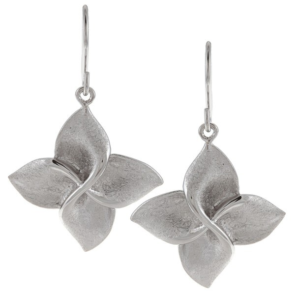 Breeze Sterling Silver Flower Dangle Earrings