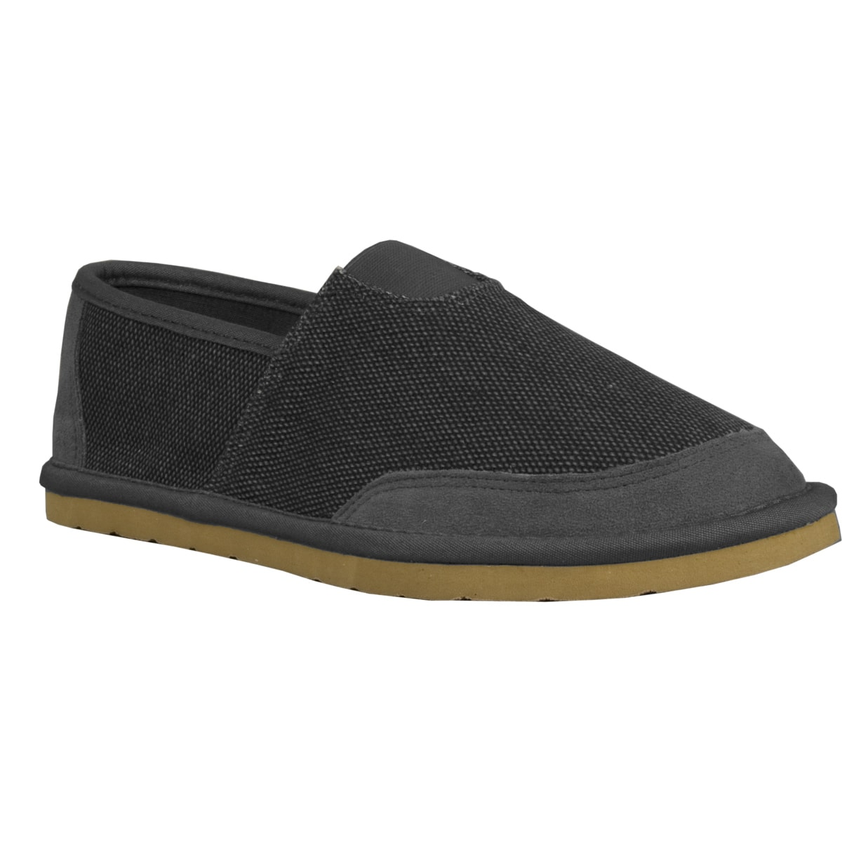 lugz s root canvas suede charcoal slip on shoes