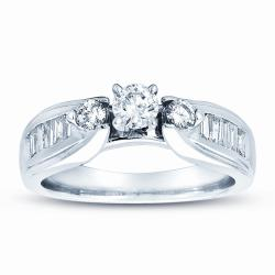 14k White Gold 3/4ct TDW Diamond Engagement Ring (J-K, SI1-SI2)
