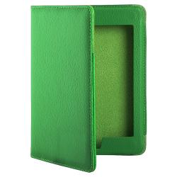 Green Faux-Leather Interior-pocket Case for Amazon Kindle Touch