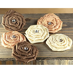 Prima Flowers Mocha Allure Fabric Flowers with Gem