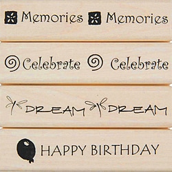 Penny Black 'Occasions' Rubber Stamp Set
