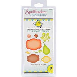 Spellbinders 'Orchard Harvest' Tags and Accents Shapeabilities Dies