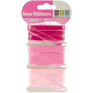 We R Memory Keepers Three-color Pink-shaded Sew Ribbon (Six yards)