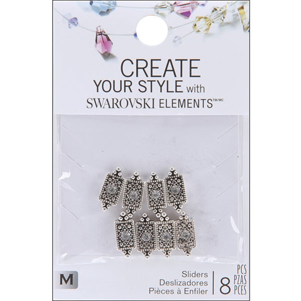 Jolee's Jewels Elements 'Pointed Rectangle/ Crystal' Sliders (Pack of 8)