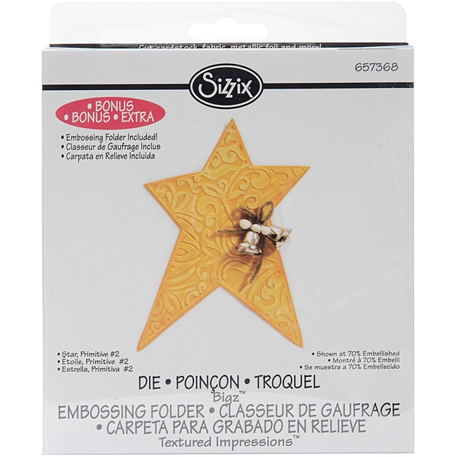 SIZZIX BY ELLISON Sizzix Bigz 'Primative Star' BIGkick/Big Shot Die with Bonus Textured Impressions at Sears.com