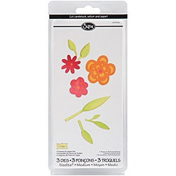 Sizzix Sizzlits Flowers and Leaves Die Set (Pack of 3)