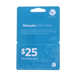 Silhouette $25 Download Card
